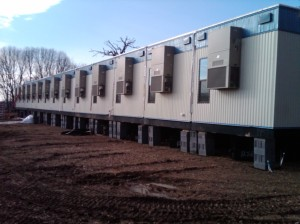 One side of 26 unit modular building